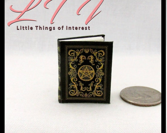BEAUCHAMP GRIMOIRE SPELL Book Miniature Dollhouse 1:12 Scale Witches East End Illustrated Readable Book Potter Magic Witch Fortune Teller