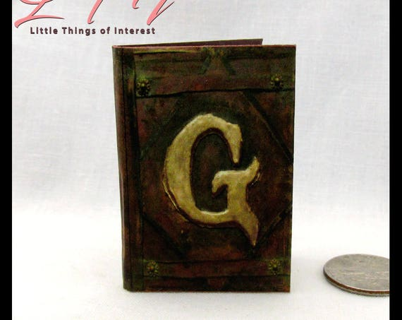 GRIMM DIARY 1:6 Scale Readable Illustrated Miniature Book Wesen Lore Legends Folklore Blythe Pullip Barbie Phicen Scale