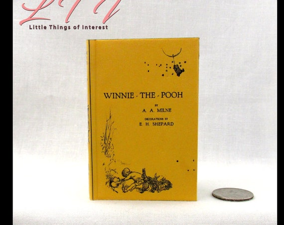 WINNIE THE POOH Illustrated Readable Book in 1:3 Scale Doll Book American Girl 18 inch Ag Doll 1/3 Scale