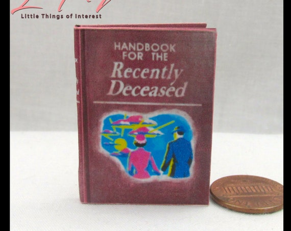 BEETLEJUICE HANDBOOK for the Recently Deceased 1:6 Scale Bjd Blythe Barbie Monster High Fashion Blythe Haunted House Readable Book