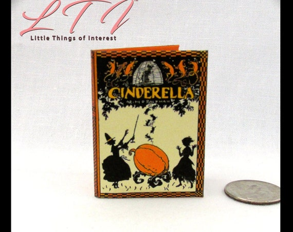 1:6 Scale CINDERELLA Illustrated By Arthur Rackham Readable Book Fairy Tale Princess Once Upon A Time Blythe Barbie Scale Play Scale