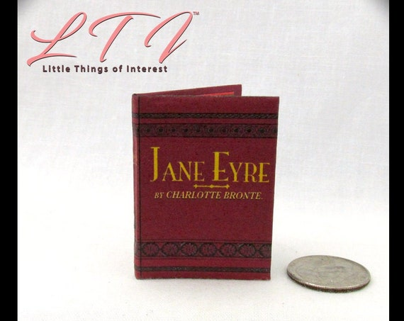 1:6 Scale JANE EYRE by Charlotte Brontë Illustrated Readable Book for Barbie Blythe Scale Poor Young Teacher Rich Mr Rochester Love Story