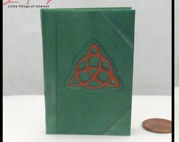 CHARMED BOOK of SHADOWS Illustrated Book 1:3 Scale Readable Spell Book American Girl 18 Inch Doll Potter Magic Wizard Witch