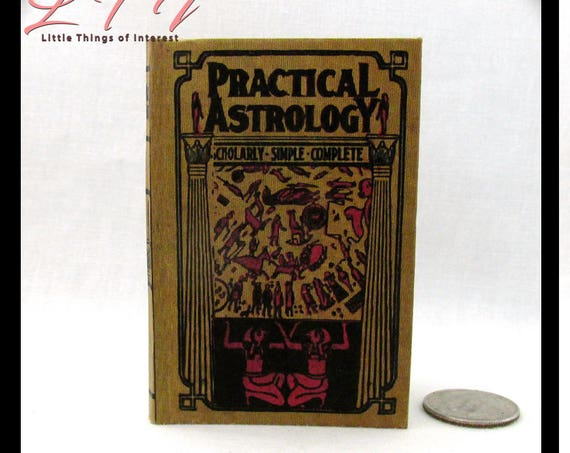 PRACTICAL ASTROLOGY in 1:3 Scale Illustrated Readable Book 18 inch Ag Doll 1/3 Scale Zodiac Wheel Signs Birth Chart Fortune Teller Gypsy