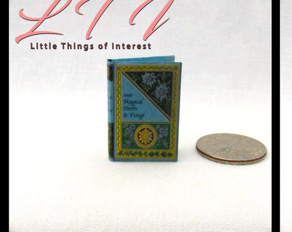1000 MAGICAL Herbs & Fungi Magicial Textbook Miniature Dollhouse 1:12 Scale Illustrated Readable Magic Witch Popular Boy Wizard Potter