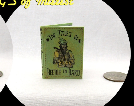 The TALES Of BEEDLE The BARD 1:6 Scale Illustrated Readable Book Magic Wizard Witch Popular Boy Wizard Gypsy Potter Barbie Accessory Bjd
