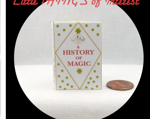 A HISTORY of MAGIC 1:6 Scale Illustrated Readable Book Magic Wizard Witch Fortune Teller Gypsy Potter Barbie Popular Boy Wizard Phicen 1/6