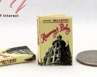 ROSEMARYS BABY Miniature 1:12 Scale Readable Illustrated Book