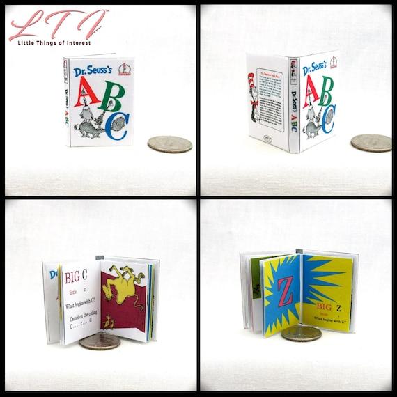 DR SEUSS/'S ABCS 1:6 Scale Book Readable Illustrated Miniature Book Dr Seuss
