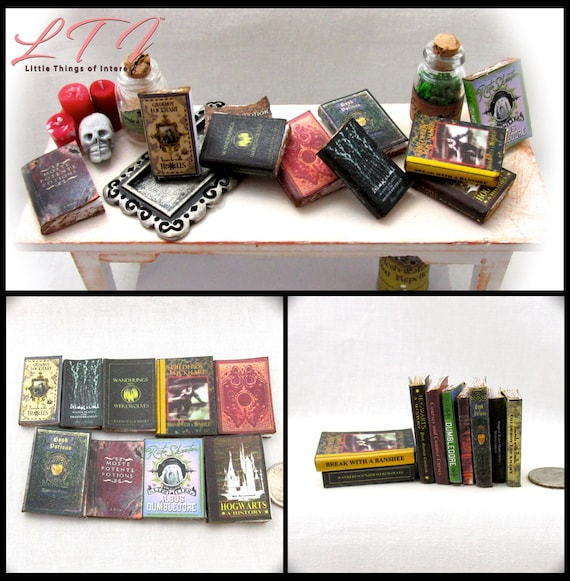 1:6 Scale VINTAGE STYLE BOOKS Set of 10 Prop Books Miniature Play Scale Barbie