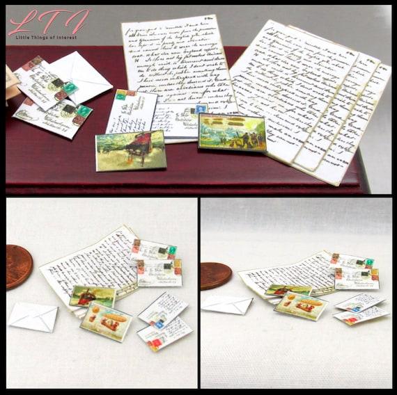 Miniature JUNK MAIL BILLS Dollhouse 1:12 Scale Office Study Utilities Phone Ads