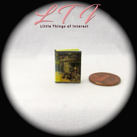 THE GUNSMITH/'S MANUAL Dollhouse 1:12 SCALE MINIATURE BOOK Readable Book Gun