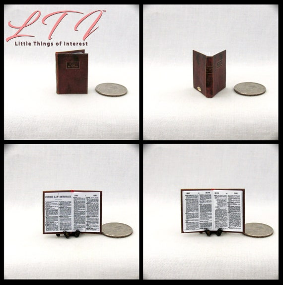 Miniature Legal Reference Titles DOLLHOUSE Books 1:12 10-Volume Set