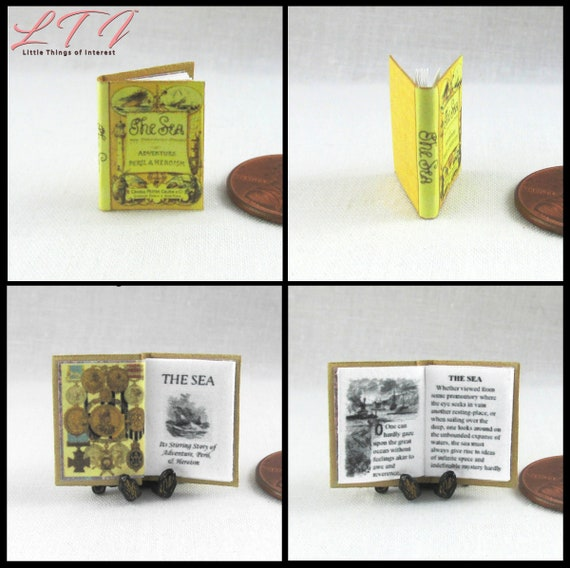 Who HISTORY OF THE TIME WAR Miniature Book Dollhouse 1:12 Illustrated Book Dr