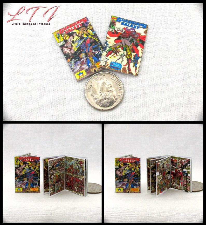 2 Miniature IRON MAN COMIC Books Dollhouse Readable 1:12 Scale *2 FOR 1* MARVEL