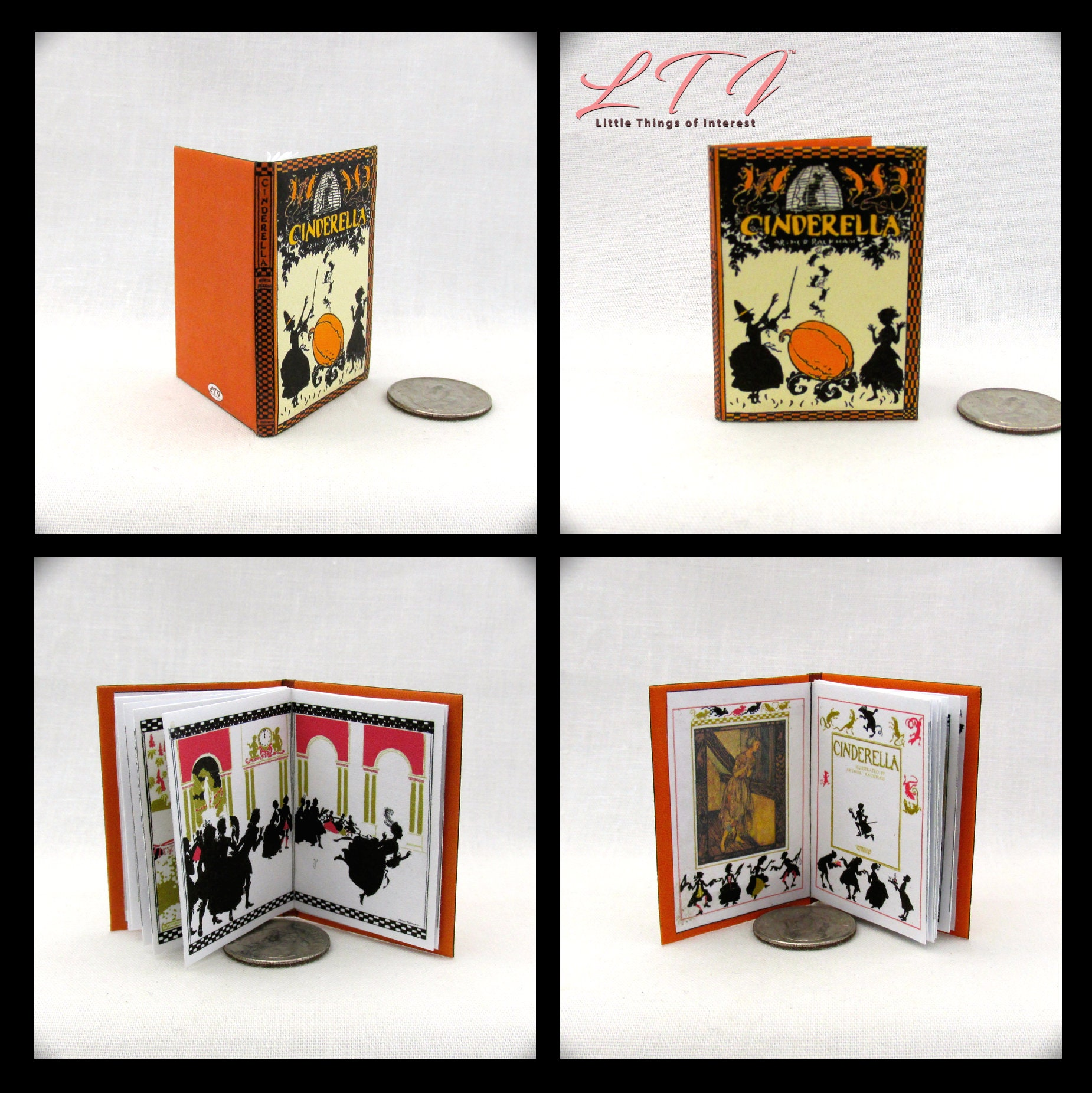 1:6 Scale CINDERELLA Illustrated Readable Book Fairy Tale Once Upon A Time