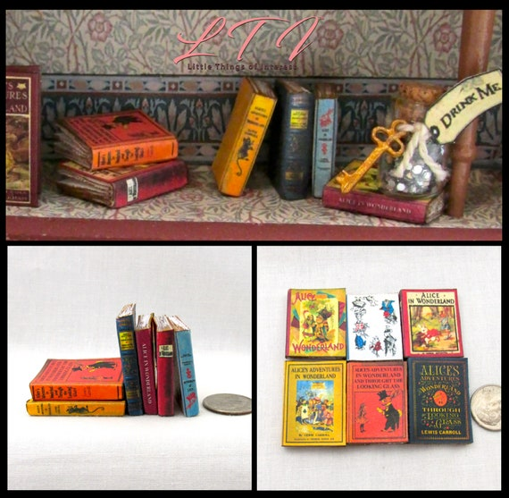 1:6 SCALE MINIATURE BOOK THROUGH THE LOOKING GLASS BARBIE PLAYSCALE