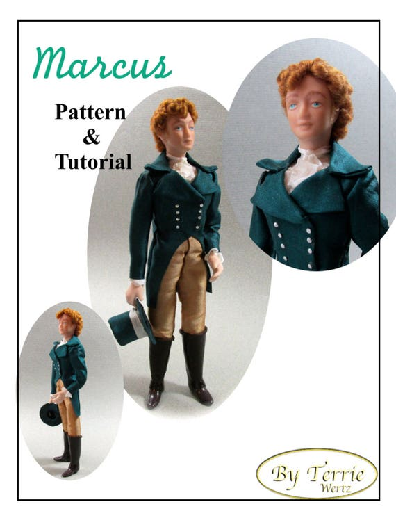 Dollhouse Doll MARCUS Man Doll DIY Pattern Tutorial PDF Dressing Miniature Dollhouse 1:12 Scale Instant Download (Experienced)