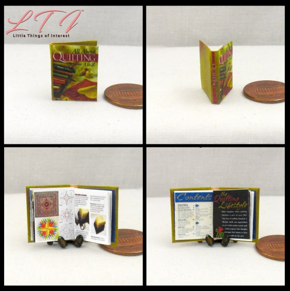 "EASY SEWING Readable Miniature Book Dollhouse Book 1:12 Scale 1/"" Scale Book"
