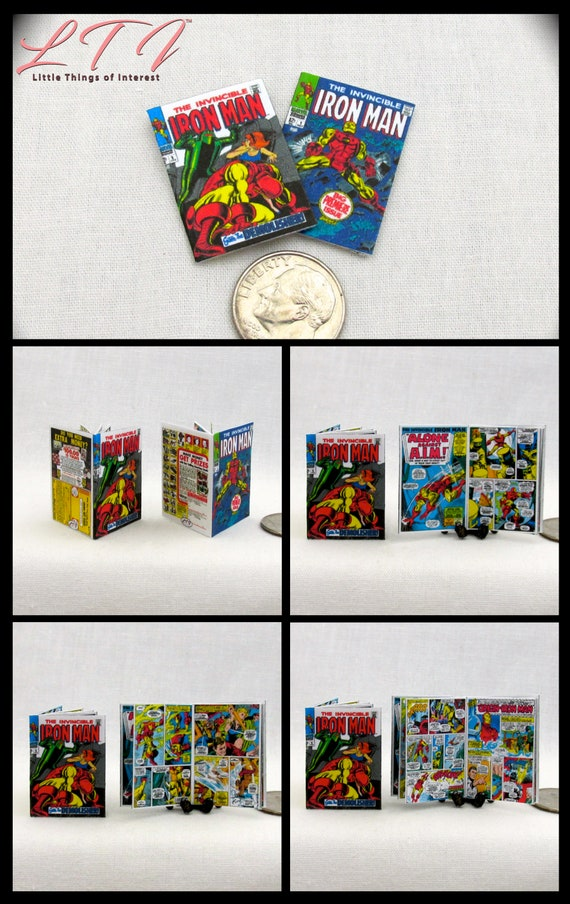 4 Miniature  /'DEADPOOL/'   Comics Dollshouse 1:12 scale OPENING PAGES