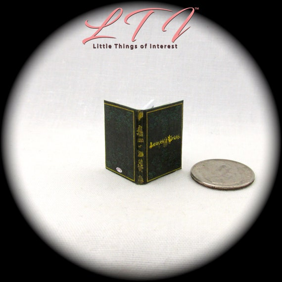 LEAVES OF GRASS Miniature Illustrated Readable Book Dollhouse 1:12 Scale Whitman