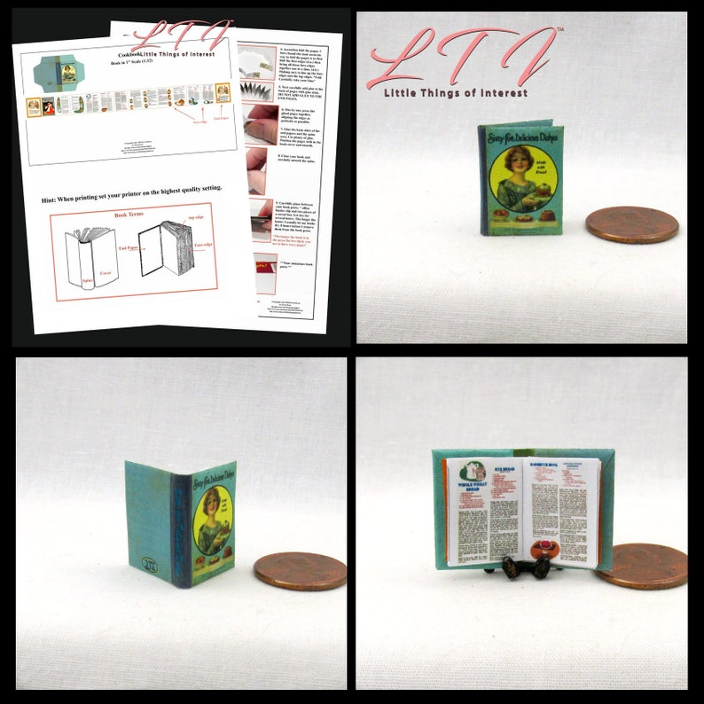 SEUSS DOLLHOUSE SCALE 1:12 SCALE MINIATURE BOOK GREEN EGGS AND HAM DR