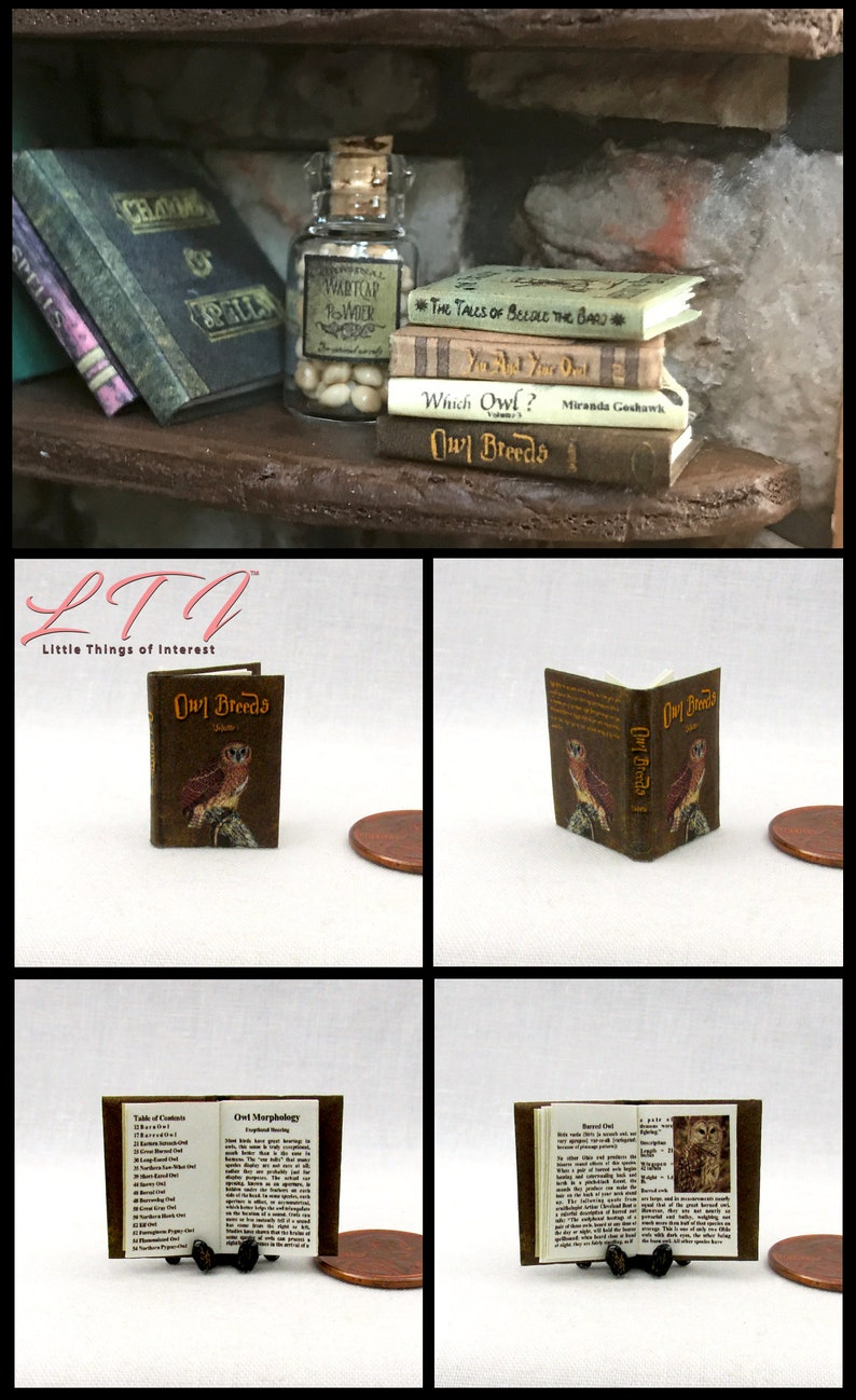1:12 SCALE MINIATURE BOOK A CURIOUS HERBAL DOLLHOUSE SCALE