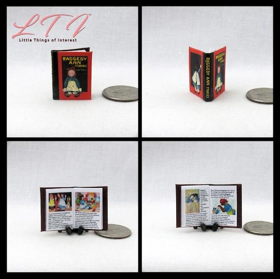 1:12 SCALE MINIATURE BOOK RAGGEDY ANN'S FAIRY STORIES JOHNNY GRUELLE