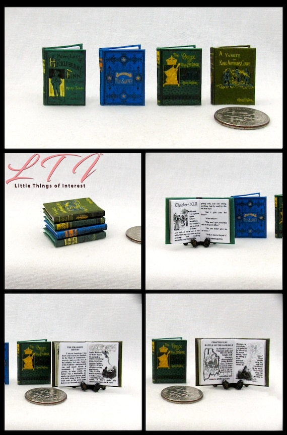 1:6th Scale The Holy Bible Readable Book Dollhouse Miniature Book 2Pcs