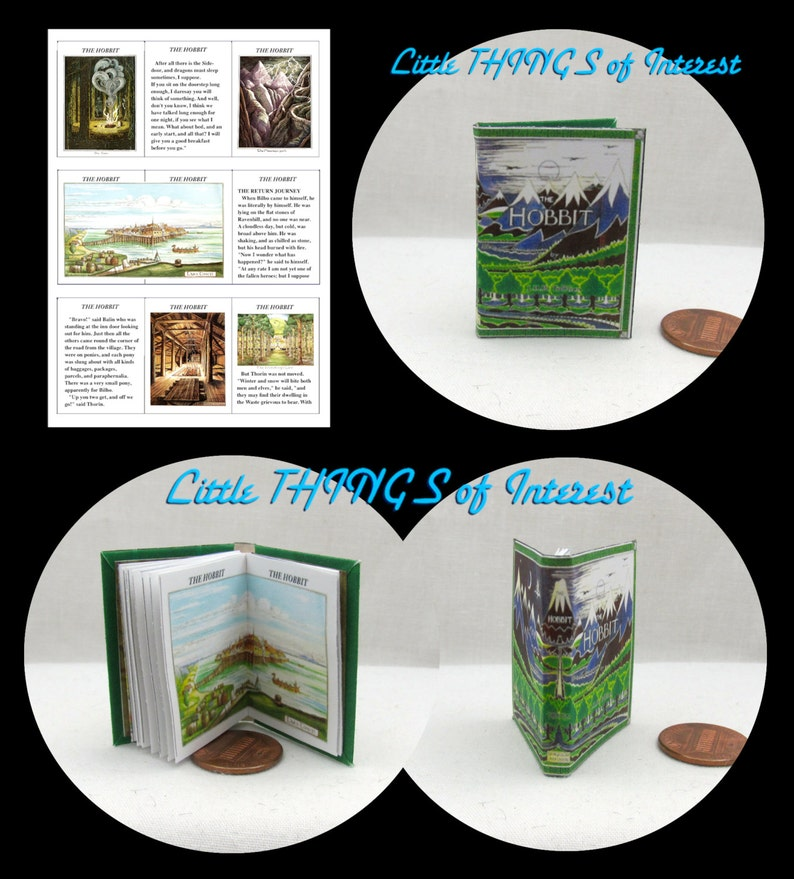 1:6 SCALE MINIATURE BOOK THE HOBBIT ILLUSTRATED PLAYSCALE BARBIE