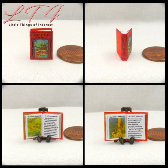 1:12 SCALE MINIATURE BOOK SLEEPING BEAUTY PRE 1900 DOLLHOUSE SCALE