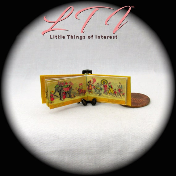 CIRCUS PROCESSION Illustrated Miniature Book Dollhouse 1:12 Scale Book