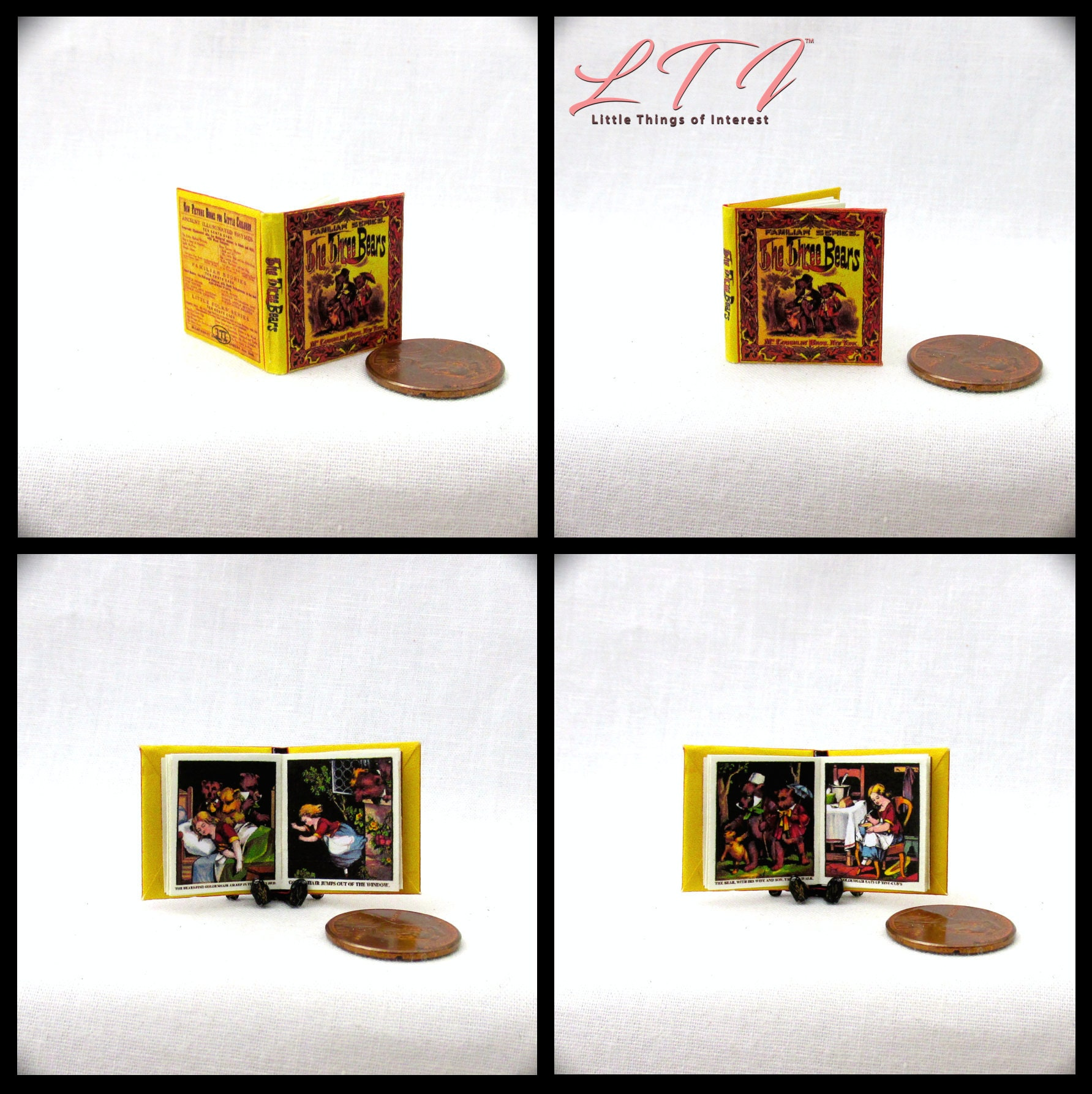 Goldilocks and the Three Bears dollhouse miniature book