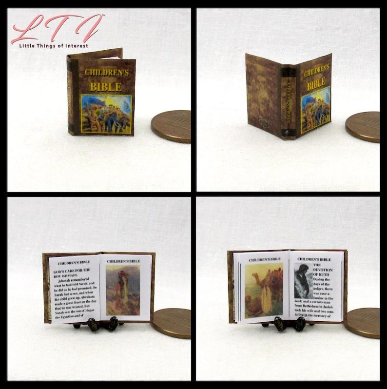 A LITTLE PRINCESS Miniature Book Dollhouse Illustrated Readable 1:12 Scale Book