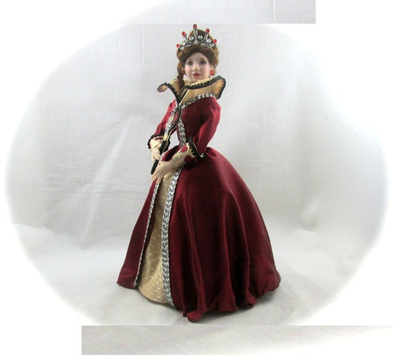 Dollhouse Doll QUEEN of HEARTS Doll Pattern and Instructions PDF Miniature 1:12 Scale Instant Download diy Red Once Upon Time (Intermediate)