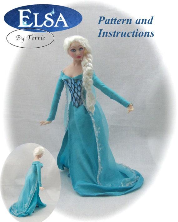 Dollhouse Doll ELSA Doll Pattern Instructions PDF Dressing Miniature 1:12 Scale Instant Download Frozen (Beginner) Magic Disney Princess