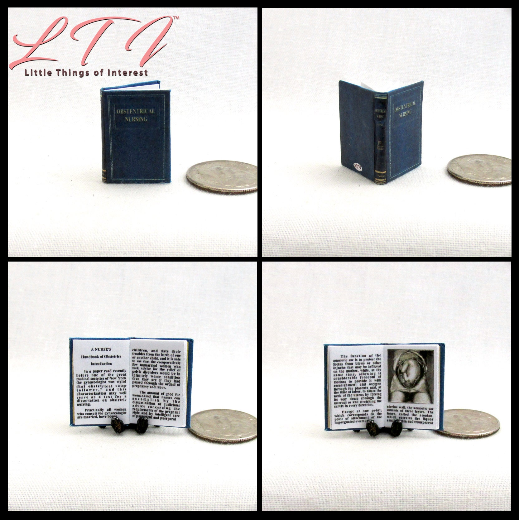 OBSTETRICS NURSING TEXTBOOK Dollhouse Miniature Book 1:12 Scale