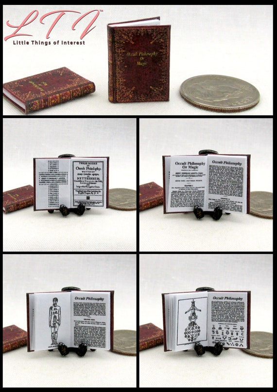 TOBIN SPIRIT GUIDE Dollhouse Miniature Book 1:12 Scale Illustrated Ghostbusters