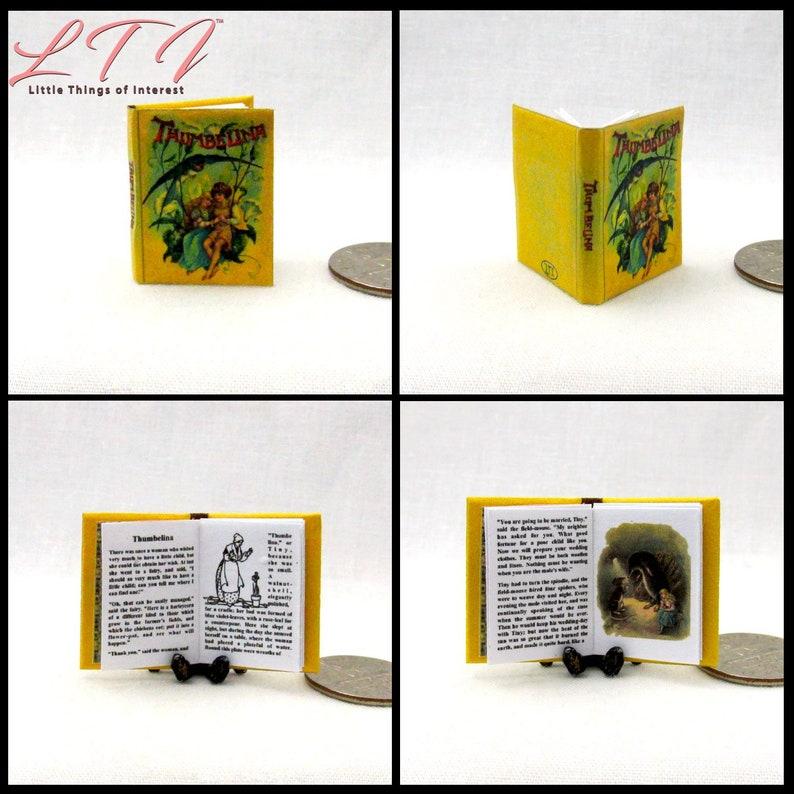 1:12 SCALE MINIATURE BOOK 5 LITTLE PIGS PRE 1900 DOLLHOUSE SCALE