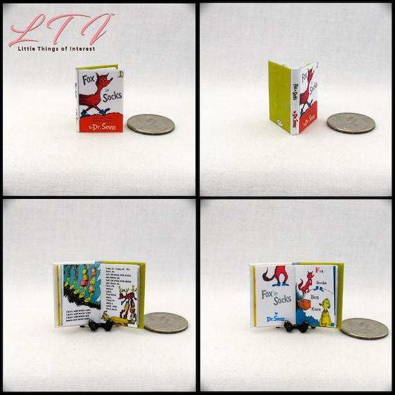 Seuss THE LORAX Miniature Book Illustrated Miniature Dollhouse 1:12 Scale Dr