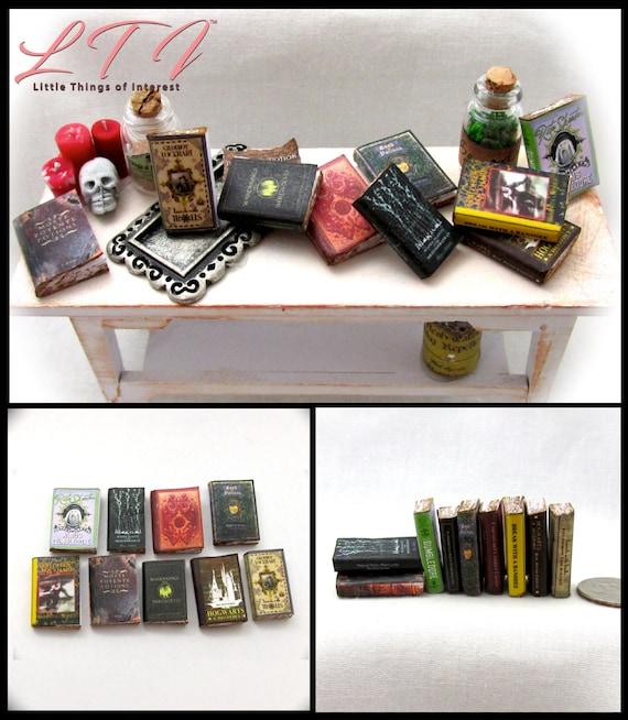 Miniature Dollhouse Set of 4 Books 1:12 Scale New