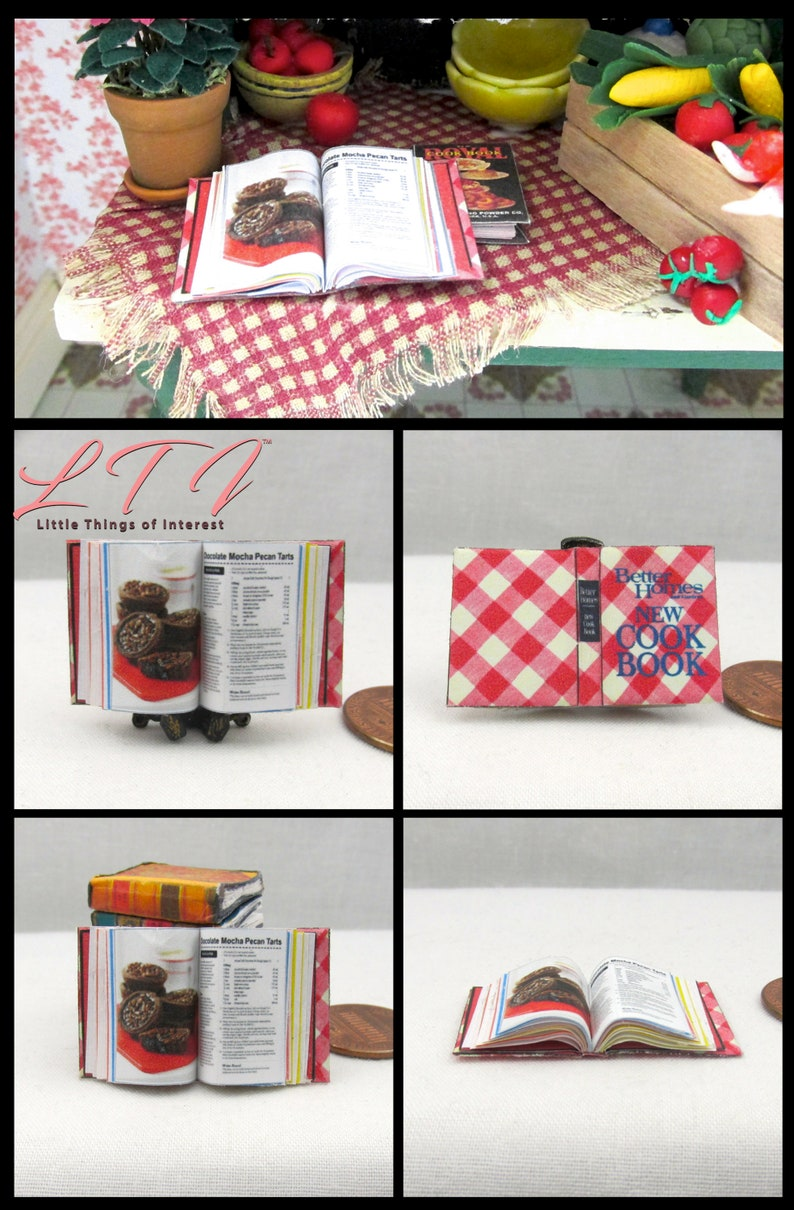 BETTER HOMES /& GARDEN ITALIAN COOKBOOK Miniature Book 1:12 Scale Illustrated