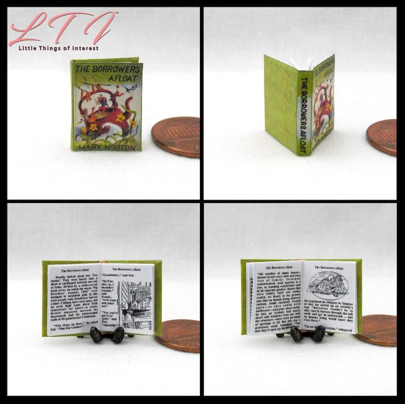 1:12 SCALE MINIATURE BOOK THE BORROWERS AFIELD DOLLHOUSE SCALE