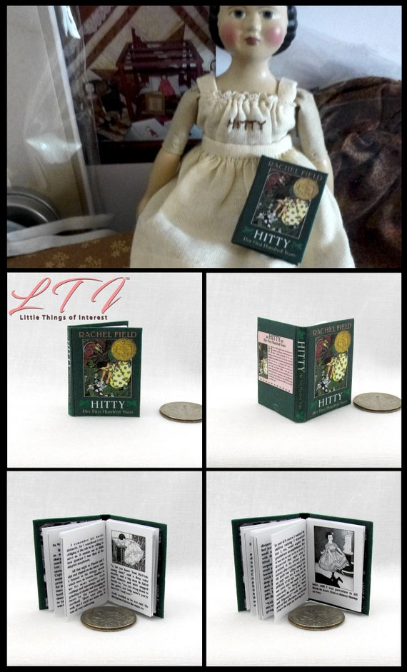 HITTY HER FIRST HUNDRED YEARS 1:6 Scale Book Readable Illustrated Book Playscale