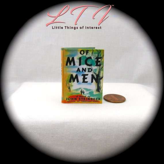 OF MICE AND MEN 1:6 Scale Book Readable Book Miniature Doll Book Steinbeck