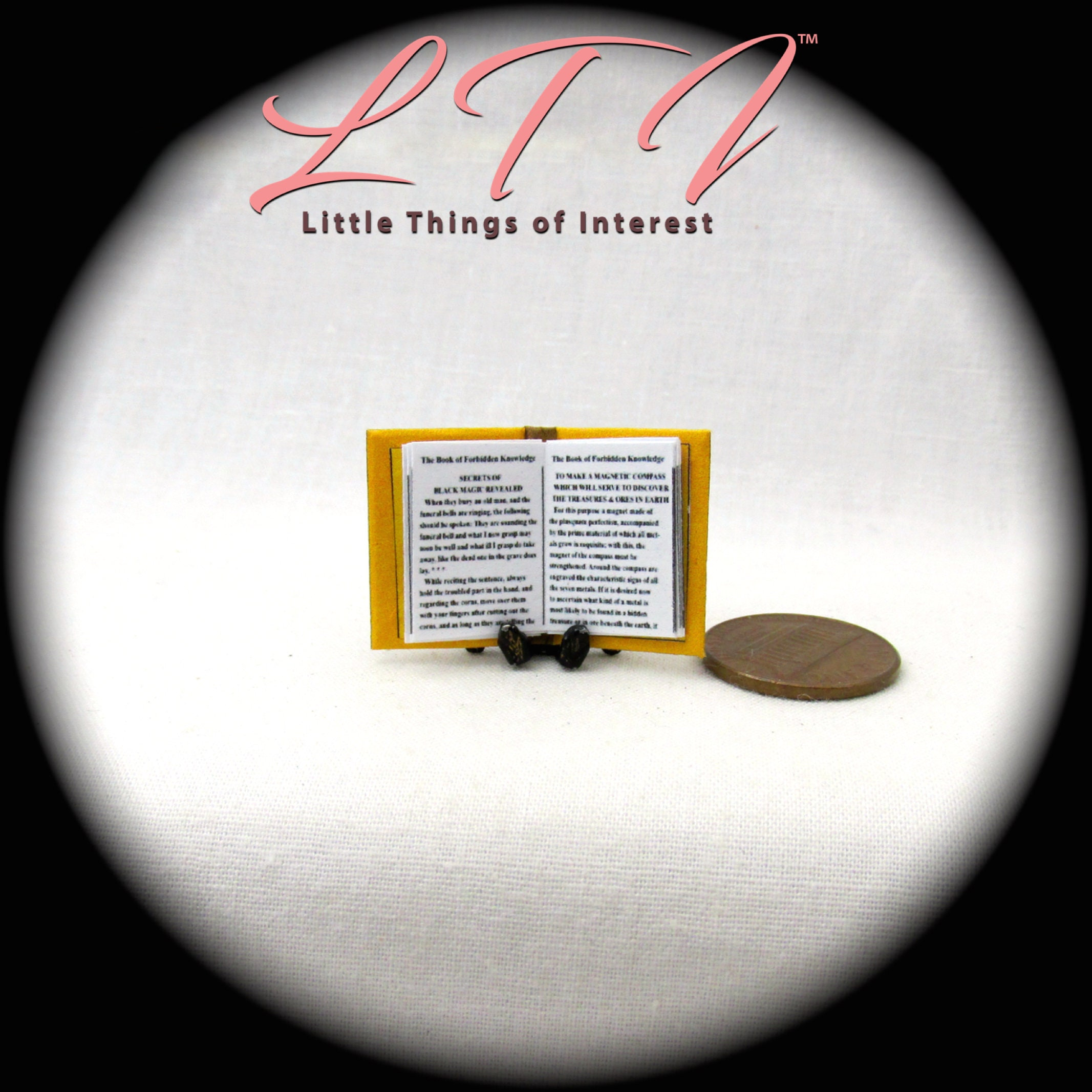 BOOK of FORBIDDEN KNOWLEDGE Miniature Book Dollhouse 1:12