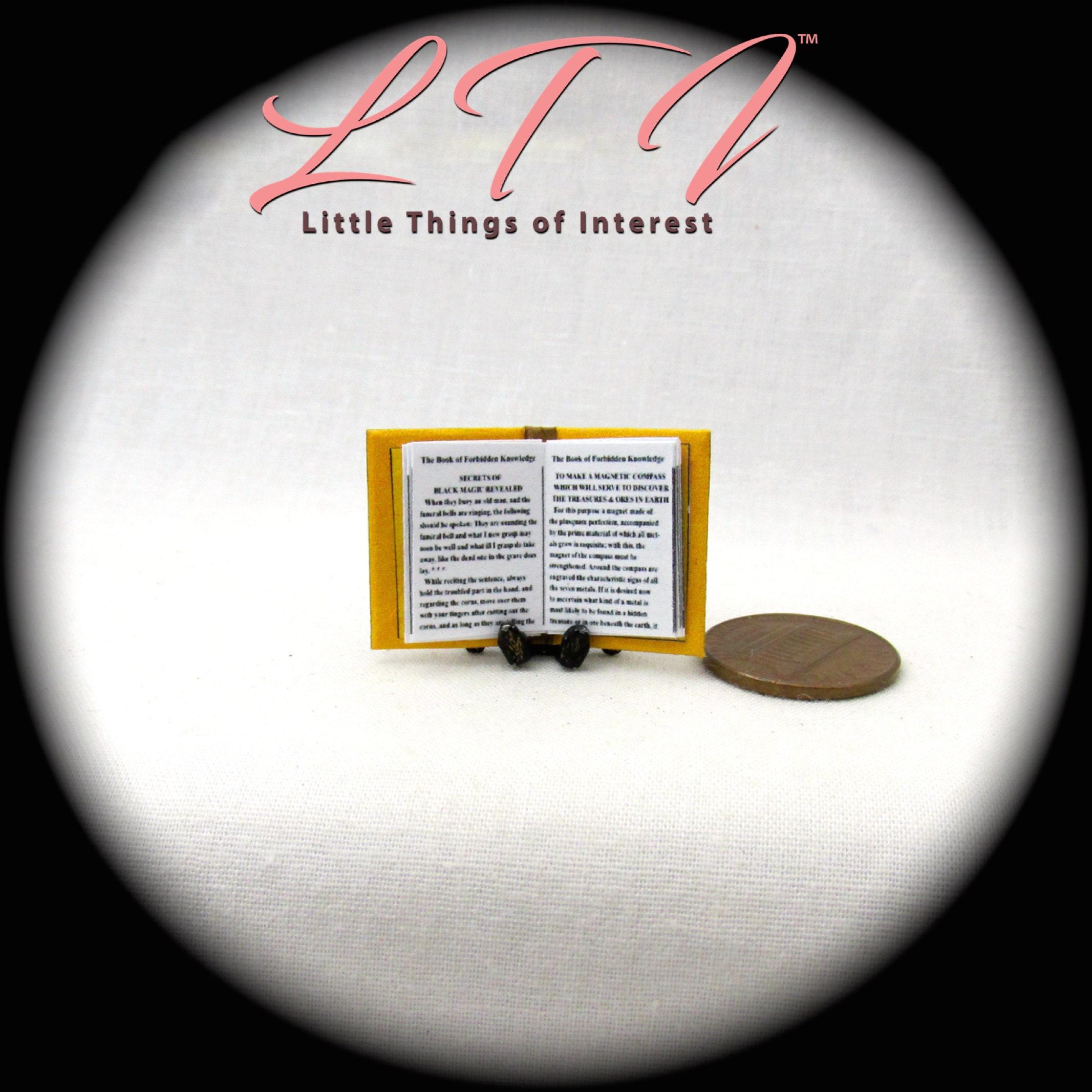 BOOK of FORBIDDEN KNOWLEDGE Miniature Book Dollhouse 1:12