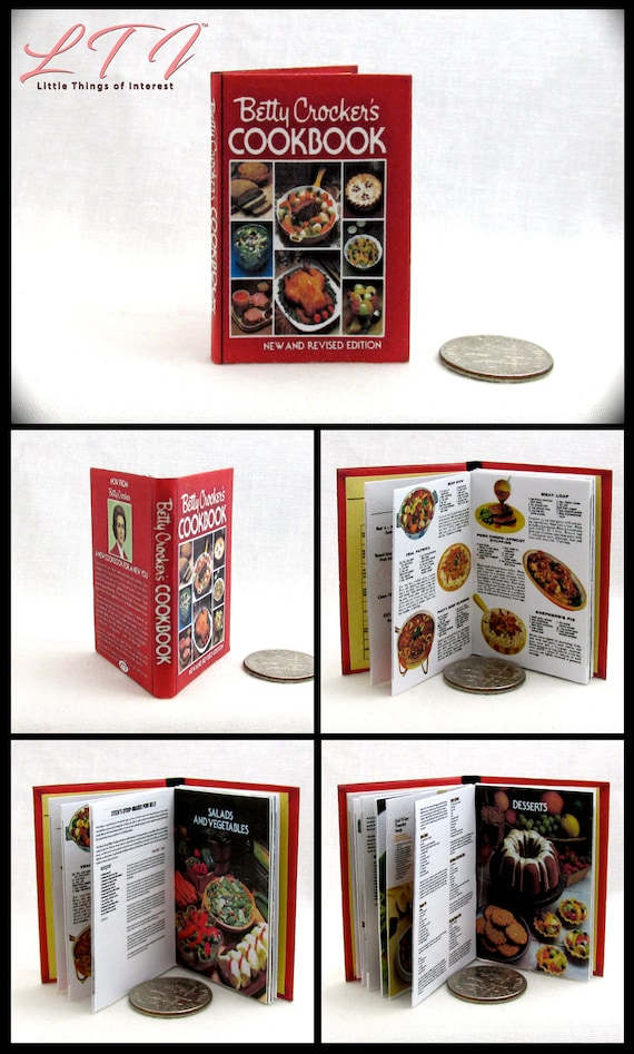 BETTY CROCKER/'S COOKBOOK Book 1:6 Scale Recipes Color Illustrated Readable Book