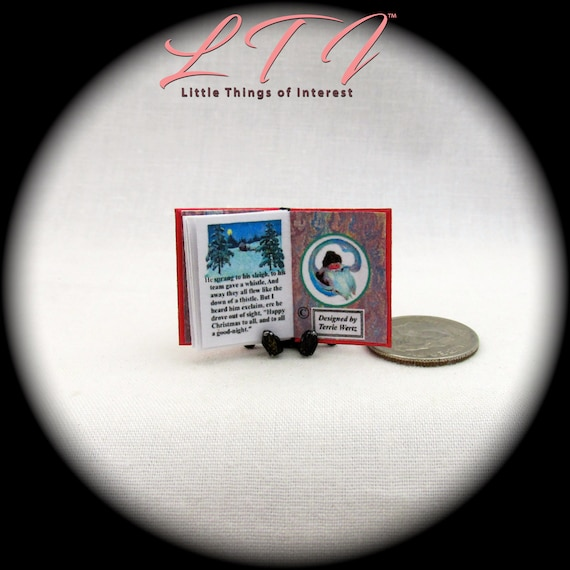 Dollhouse Miniature Replica Book of Twas the Night Before Christmas