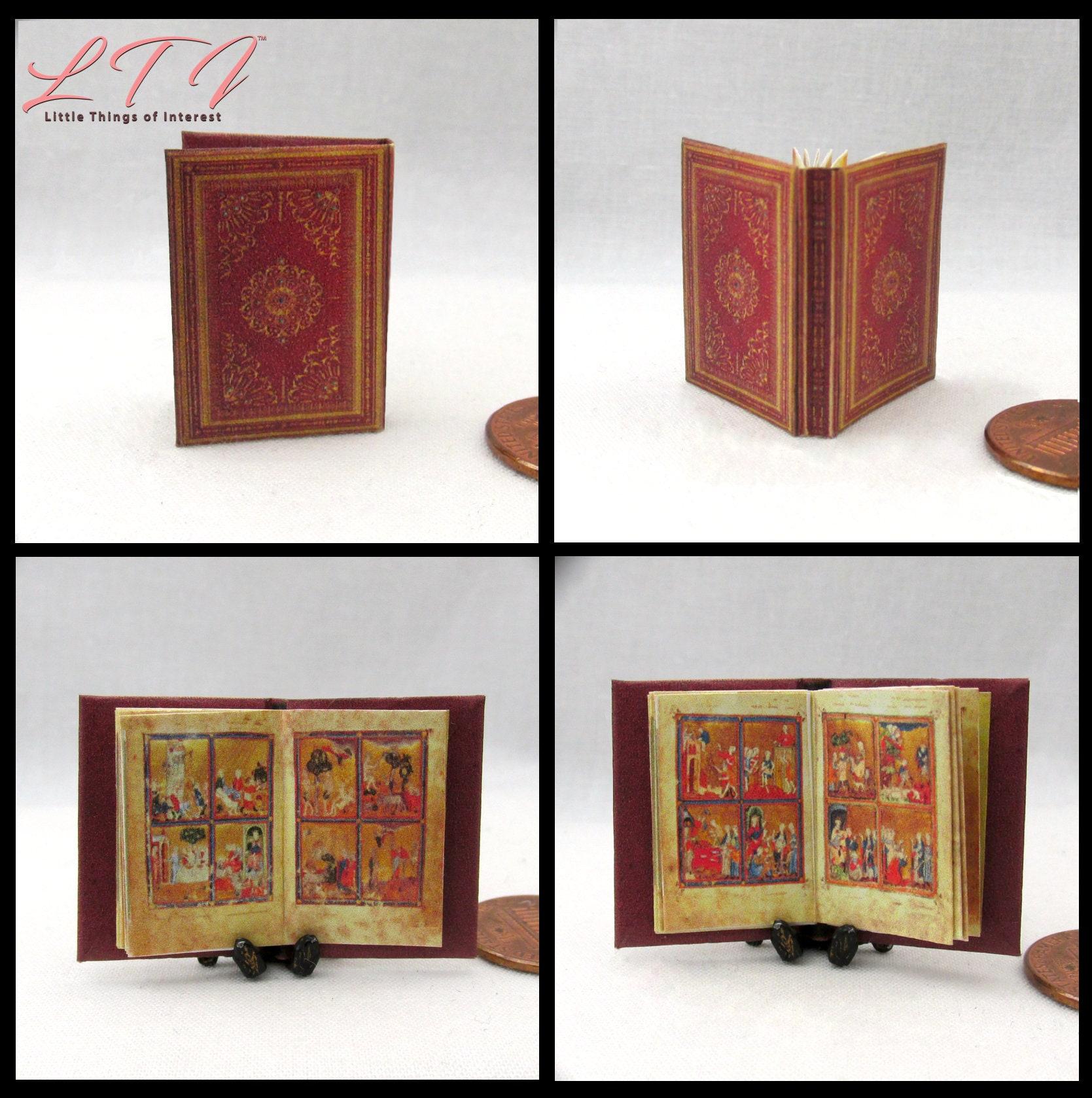HEBREW GOLDEN HAGGADAH Miniature Book Dollhouse 1:12 Scale